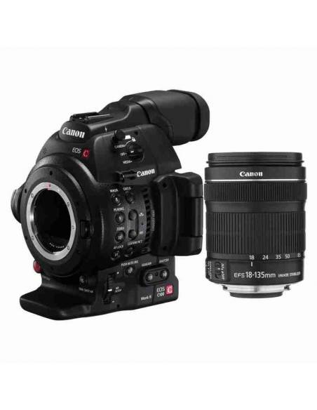 CANON EOS C100 Mark II +EF-S 18-135 mm IS STM