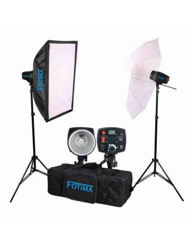 KIT FLASH ESTUDIO BASIC 2X160W FTF-160
