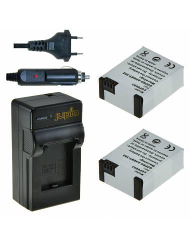 BATERIA JUPIO / GOPRO 2x Battery AHDBT-302  + Charger  - 1200 mAh