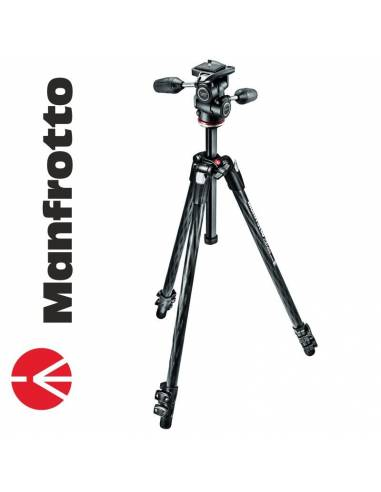 Manfrotto 290 Xtra Carbono + Rótula 3Way (MK290XTC3-3W)