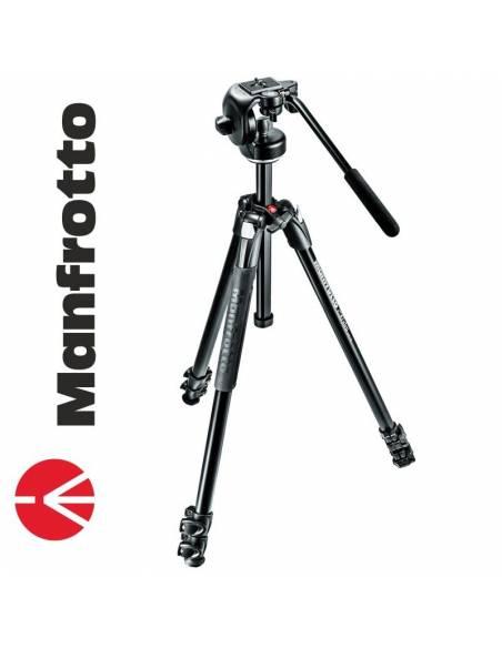 Manfrotto 290 Xtra Aluminio + rótula vídeo (MK290XTA3-2W)