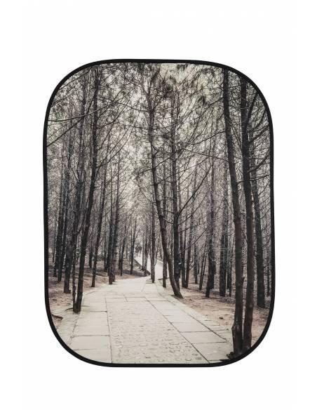 LASTOLITE FONDO PLEGABLE 1.5 X 2.10 M.  STONE STEPS / WINTER TREES