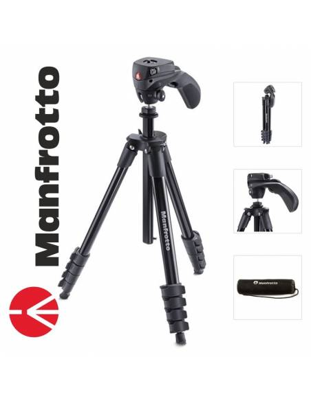 Manfrotto Trípode Compact light Negro MKCOMPACTLT-BK