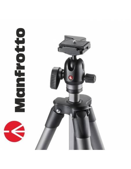 Manfrotto Trípode Compact Advanced Ball-Head Negro-Gris