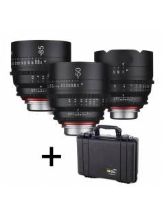 XEEN KIT 3 lentes para CANON EF + Regalo PELI 1500 foam