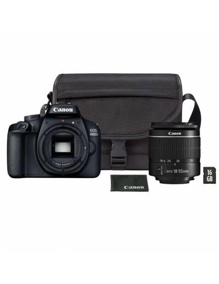 CANON EOS 4000D + 18-55mm III +Bolsa Fotográfica + SD16GB 3011C013