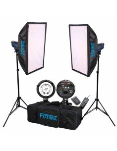 FOTIMA KIT FLASH ESTUDIO BASIC 2X180W FTF-180 PRO
