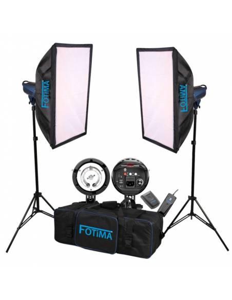 FOTIMA KIT FLASH ESTUDIO BASIC 2X180W FTF-180 PRO