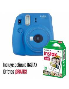 FUJIFILM INSTAX MINI 9 Cobalt blue (KIT: Funda + carga 10 fotos)