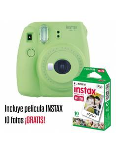 FUJIFILM INSTAX MINI 9 Lime Green (KIT: Funda + carga 10 fotos)