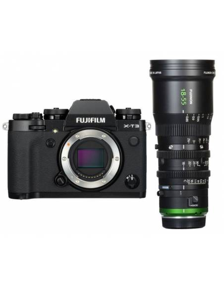 FUJIFILM X-T3 Black + FUJINON MK18-55mm T2.9 CINE