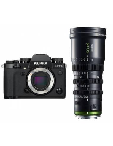 FUJIFILM X-T3 Black + FUJINON MK50-135mm T2.9 CINE