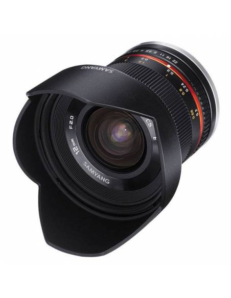 SAMYANG 12mm F2.0 NCS CS (FUJI X) Negro