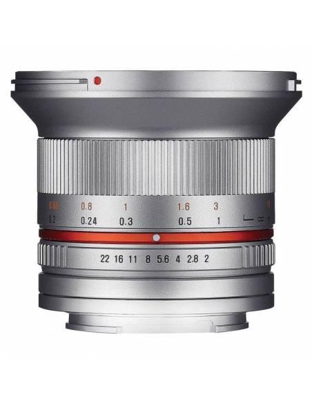 SAMYANG 12mm F2.0 NCS CS (FUJI X) plata