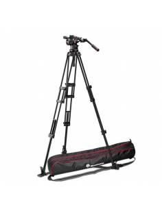 Kit trípode vídeo Manfrotto 545GB Aluminio Est. Suelo + rótula Nitrotech N12 (MVKN12TWING)