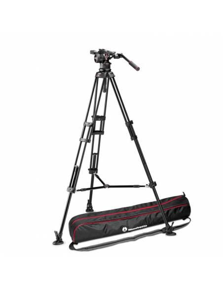 Kit trípode vídeo Manfrotto 545B Aluminio Est. Medio + rótula Nitrotech N12 (MVKN12TWINM)