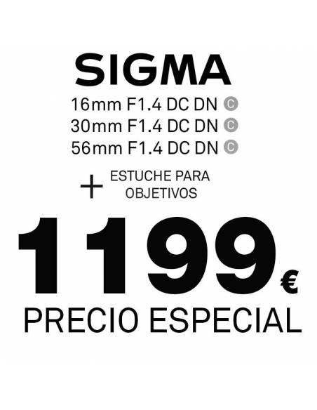 SIGMA  KIT DN: 16mm + 30mm + 56mm F1.4 DC DN para Micro 4/3
