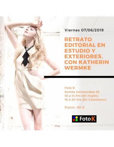 Retrato editorial en estudio y exteriores, con Katherin Wermke