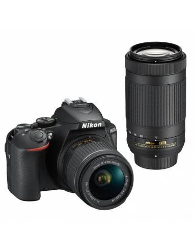 NIKON D5600 + 18-55mm VR + 75-300mm VR + 10 AÑOS DE GARANTÍA