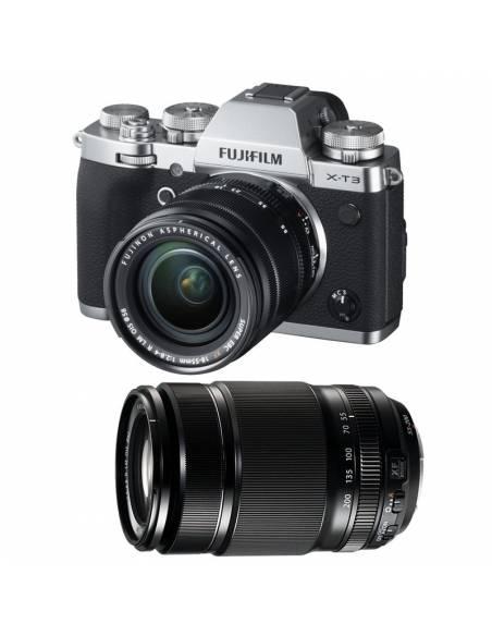 FUJIFILM X-T3 KIT silver: 18-55mm F2.8-4 + 55-200mm f3.5-4.8