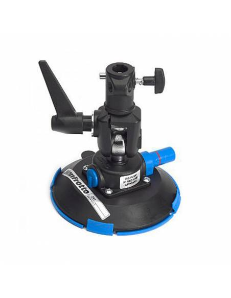 Manfrotto - Ventosa con base plana con conector de 16mm orientable