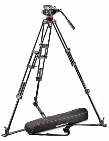 Manfrotto - Kit video con trípode alumino PRO 546GB + rótula MVH502A