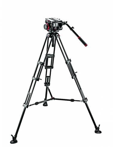 Manfrotto - Kit video con trípode aluminio PRO 545B + rótula 509HD. Estabilizador a  media altura