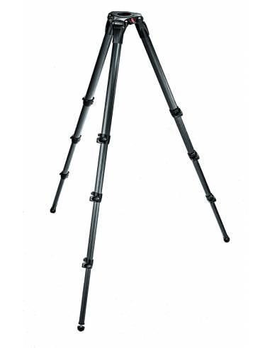 Manfrotto - Trípode de video MPRO 536. 4 secciones. Para semi esfera 75/100mm en Fibra de carbono