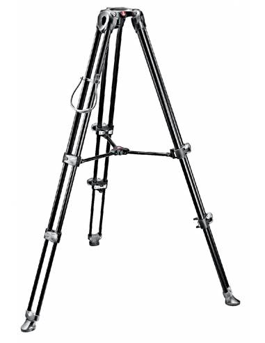 Manfrotto - Trípode de video MVT502AM. Patas dobles. Para semiesfera 60/75. Alum.