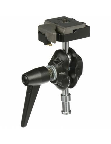 Manfrotto - Rótula con doble bola con soporte para cámara  y zapata rápida