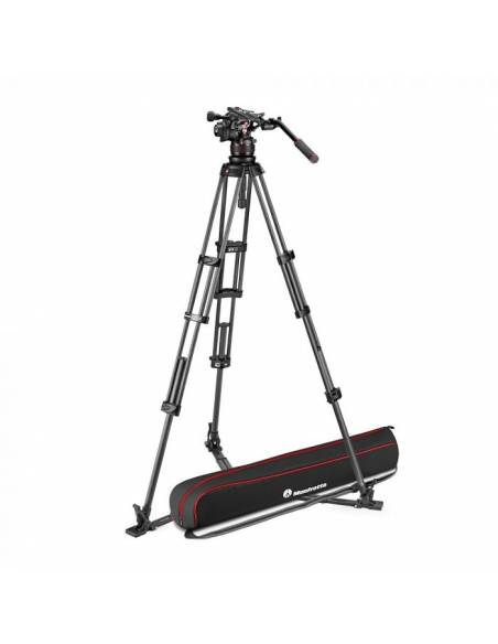 Kit trípode vídeo Manfrotto Twin carbono + rótula Nitrotech 612 (MVK612TWINGC)