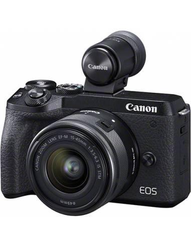 CANON EOS M6 MARK II+15-45mm+VISOR EVF-DC2 BLACK
