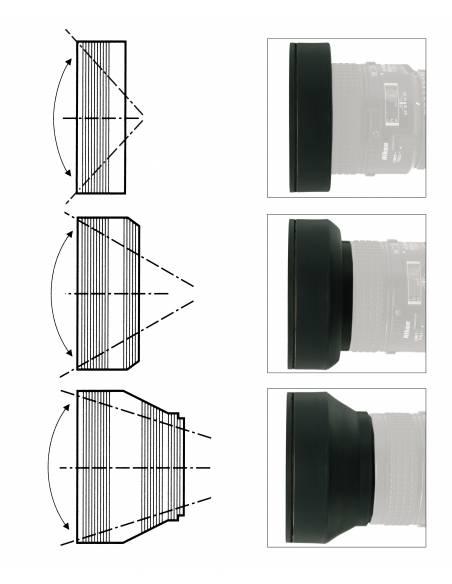 Kaiser - Parasol 3 posiciones para rosca de  62mm