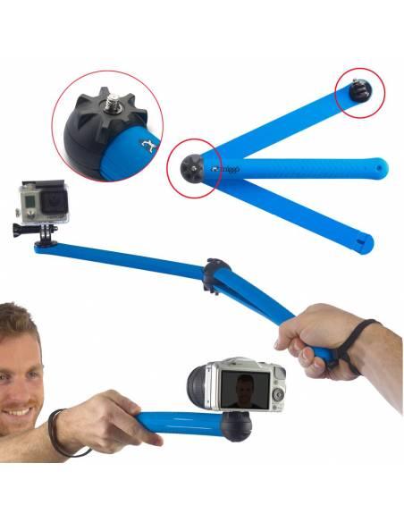MIGGÖ Trípode Splat Flexible Pro 80 para cámaras DSLR / Action MW SP-SLR BL 80