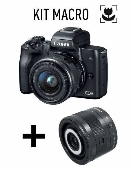 CANON EOS M50 KIT: + EF-M15-45mm + EF-M 28mm Macro
