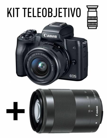 CANON EOS M50 KIT TELE: + EF-M15-45mm + EF-M 55-200mm