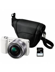 SONY A5000 + 16-50 (White) + FUNDA + SD 8 GB (ILCE-5000 KIT)