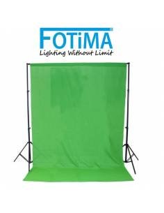 FOTIMA Soporte fondos FTSF-10 portátil + fondo Cromakey