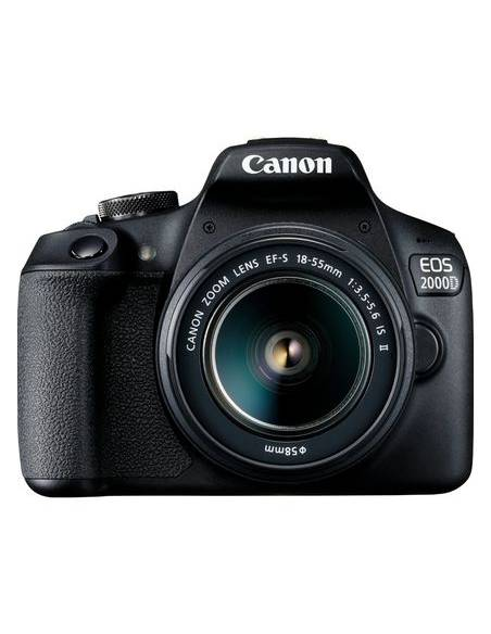 CANON EOS 2000D + 18-55mm KIT: Funda Canon + Sd-HC 16Gb + gamuza (2728C054)