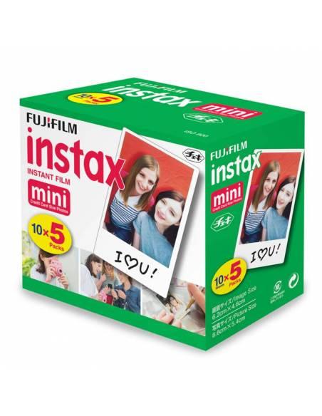 FUJIFILM  INSTAX MINI 50 fotos (5x cargas)