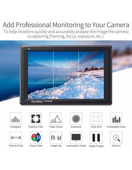 "FEELWORLD T7 monitor 7"" FW279s 4K (SDI-HDMI)"
