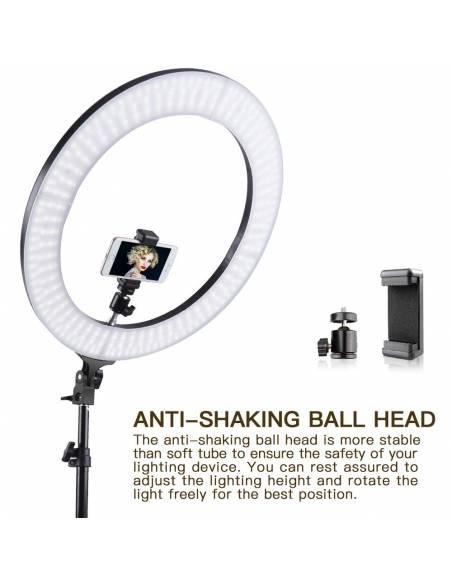 FOTIMA Kit LED Ring Light Bicolor FTRL-48 + trípode (220074)