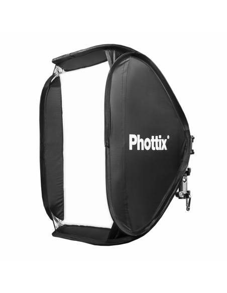 PHOTTIX Softbox 60x60 con rótula flash Cerberus. PX82524 universal