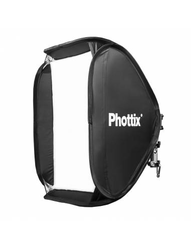 PHOTTIX Softbox 40x40 con rótula flash Cerberus. PX82522 universal