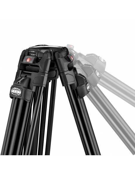 Kit video c/trípode aluminio Fast 645 + rótula 509HD. Estab. central (MVK509TWINFA)
