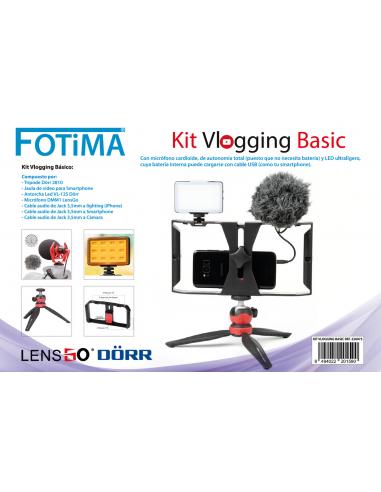 FOTIMA Kit Vlogging básico para smartphone