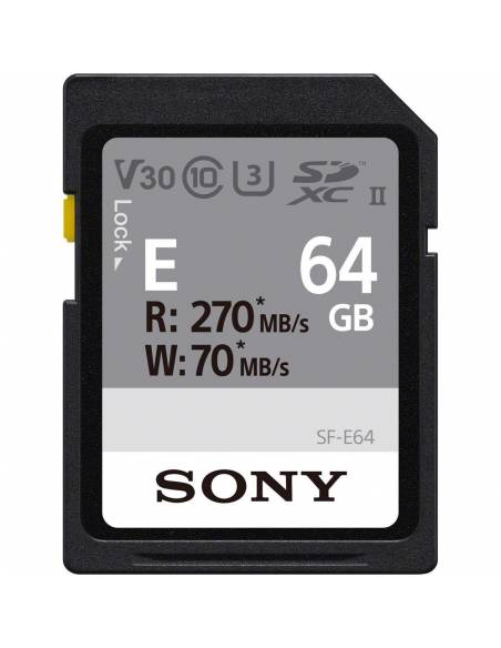 SONY SDXC 64GB 277MB/s SF-E UHS-II U3 v30