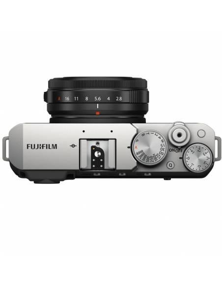 FUJIFILM X-E4 Silver + XF27mm F2.8 R WR