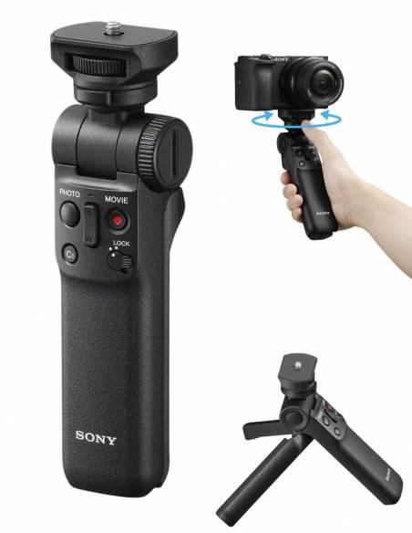 SONY DSC Vlog ZV-1 + Grip/Control GP-VPT2BT + Micrófono Inalámbrico ECM-W2BT