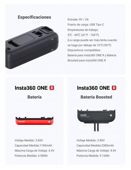 Batería alta capacidad (Boosted) para Insta360 ONE R